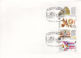 EUROPA, CEPT-Mitläufer: SPANIEN HBl 1 FDC, Beitritt Spaniens Und Portugals Zur Europäischen Gemeinschaft (EG), 1986 - Europa-CEPT