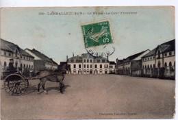 CPA.22.Lamballe.1910.Le Haras.La Cour D´Honneur.Attelage Avec Occupant. - Lamballe