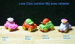 Kinder 1996 : Love Cars : Lulu 2CV & Bobby – K96n70 – K96n71 - Lots