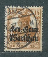 Deutsches Reich 1916, GEN.-GOUV. WARSCHAU, MiNr 11 Used, Postmark LODZ - Occupation 1914-18