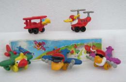 Kinder 2000 : Série 5 Crazy Airbirds - K00n102-n103-n104-n106-n1 07 Avec 1 BPZ - Lots