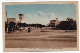 Maroc--RABAT--1932--Office économique Et Poste De La Résidence (animée,vélo)--timbres Au Verso--pas Courante - Rabat