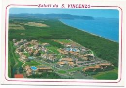 R2093 San Vincenzo (Livorno) - Vista Aerea Del Garden Club E Parco Di Rimigliano / Viaggiata 2001 - Italia
