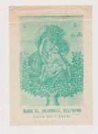 ANTICO SANTINO MARIA SS. INCORONATA DELL'OLMO CAVA DEI TIRRENI IMAGE PIEUSE ANDACHTSBILD HOLY CARD - Imágenes Religiosas