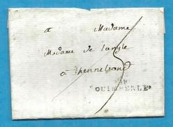 Finistère - Quimperlé Pour Hennebon (Morbihan). MP 34x7. Indice 9 - Marcophilie (Lettres)