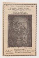 ANTICO SANTINO LA VISITAZIONE DI MARIA IMAGE PIEUSE ANDACHTSBILD HOLY CARD - Imágenes Religiosas