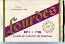 LOURDES Lot De 3 Carnets Cartes Postales Et Photographies - Lourdes