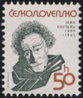Czechoslovakia / Stamps (1989) 2881: Jean Cocteau (1889-1963); Painter: Pavel Hrach - Cinema