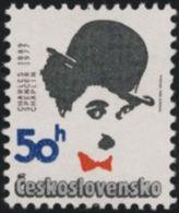Czechoslovakia / Stamps (1989) 2882: Charles Spencer Chaplin (1889-1977); Painter: Pavel Hrach