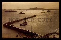 MONTEVIDEO PORT LIGHTHOUSE SHIP BOAT URUGUAY TARJETA POSTAL Original C1930 POSTCARD CPA AK (W4_3188) - Uruguay