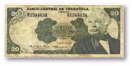 VENEZUELA - 20 Bolívares - 07 / 06 / 1977 - Serie R - Pick 53b - BOLÍVAR LIBERTADOR E MARISCAL SUCRE - 2 Scans - Venezuela