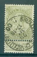 """BELGIE - OBP Nr 59 - Leopold II - Cachet   """"BRUXELLES (R.CHANCELLERIE)""""  - (ref. ST-278) - 1893-1900 Thin Beard"""