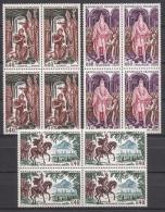 FRANCE 1966 -  SERIE Y.T. N° 1495 A 1497 EN BLOC DE 4 - 12 TP NEUFS** E43 - Neufs