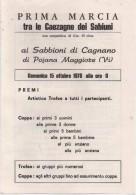 Volantino Pubblicitario I^ Marcia Tra Le Caezagne Dei Sabiuni (Sabbioni Di Cagnano Pojana Maggiore Vicenza) 15.10.1978 - Atletica