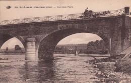 G , Cp , 18 , SAINT-AMAND-MONTROND , Les Deux Ponts - Saint-Amand-Montrond