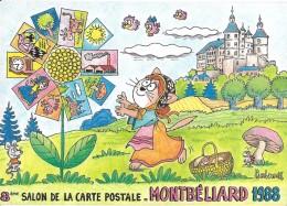 BARBEROUSSE ILLUSTRATEUR FOIRE MONTBELIARD DOUBS CHAMPIGNON SOURIS CHAT 1988 - Barberousse