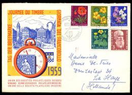 SWITZERLAND - November 6, 1959 Stamp Day. Cover Sent To La Haye, The Netherlands. - Svizzera