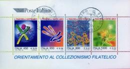 """PIA  -  ITALIE  -  1999  :  """"Il Francobollo Nostro Amico - Foglietto  -     (SAS  Bf 23 ) - 1991-00: Usati"""