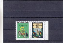 Bandes Dessinées - Tintin - Belgique - Timbres De 2007 ** - MNH - Table - Chiens - Livres - Bandes Dessinées
