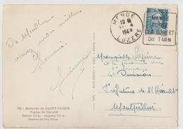 DAGUIN MENDE LOZÈRE N°719B 5F GANDON SEUL 1948 - CP ENVIRONS DE SAINT-FOUR VIADUC DE GARABIT CANTAL AUVERGNE - Handstempels