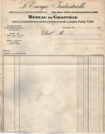 VP5336  -  Papier Lettre - L' Energie Industrielle  Réseau De Granville  à GRANVILLE ( Manche ) - Electricity & Gas