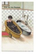 15164 -  Gruss Aus Dem Moorbade Le Bain Femme En Noire - Humour
