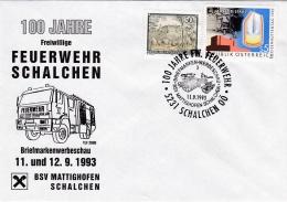 Austria Cover P/m Schalchen 1993 100 Jahre Freiwillige Feuerwehr (SKO10-45) - Firemen