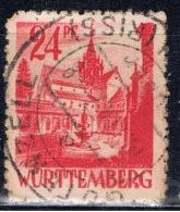 D+ Württemberg 1947 Mi 8 Bebenhausen - Zone Française