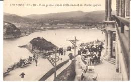 POSTAL    SAN SEBASTIAN  - ESPAÑA  - VISTA GENERAL DESDE EL RESTAURANTE DEL MONTE IGUELDO - Guipúzcoa (San Sebastián)