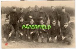 Carte-photo A.B.L. Armée Belge- Prisonniers De Guerre SALAG VI-A - HEMER- POW -Kriegsgefangener 1943 - Weltkrieg 1939-45