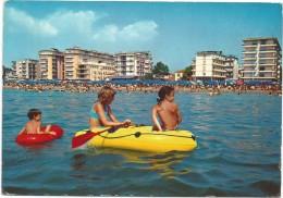 R2103 Lido Di Jesolo (Venezia) - Panorama Della Spiaggia Dal Mare - Centro Commerciale / Viaggiata - Italia