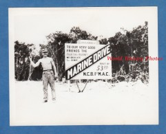 Photo Ancienne De L´ US ARMY - Bougainville Guam Island Marine Drive Built By The 53rd SeaBees - WW2 - Pacific War - Guerre, Militaire