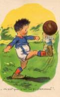 """CPA Germaine Bouret Football """"On Voit Que C'est Un Professionnel"""" - Bouret, Germaine"""