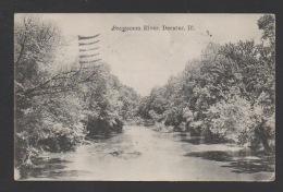DF / ETATS-UNIS / ILLINOIS / DECATUR / LA RIVIERE SANGAMON / CIRCULÉE EN 1921 - Etats-Unis