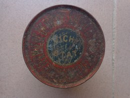 BOITE METAL DE SUCRE D'ORGE VICHY-ETAT DIAMETRE 8 Cm Environ Haut.6.8cm - Publicité
