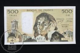 France 500 Francs 1974 Banknote, Blaise Pascal - VF - 1962-1997 ''Francs''