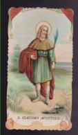 ANTICO SANTINO SAN GIACOMO APOSTOLO HOLYCARD IMAGE PIEUSE ANDACHTSBILD FUSTELLATO - Imágenes Religiosas