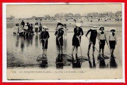 62 - Le TOUQUET - PARIS PLAGE -- La Pêche à La Crevette - Le Touquet