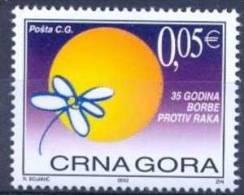 CG 2002 35YEARS STRUGGLE AGAINST CANCERN, MONTENEGRO-CRNA GORA, 1v, MNH - Montenegro