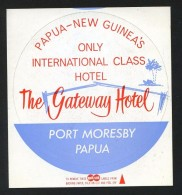 Port Moresby. Papua *The Gateway Hotel* Meds: 95 Mms. Auto-adhesiva. - Hotel Labels