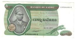 Zaire 5 Zaires 1977 LOTTO 651 - Zaire