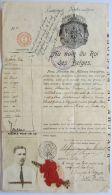 27778g   PASSEPORT DIPLOMATIC  BELGE - JAPON - RUSSIE - 1918 - Documents Historiques