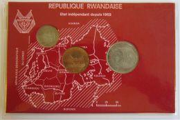 27776  REPUBLIQUE RWANDAISE - 1 FRANC - 5 FRANCS - 10 FRANCS - 1964 - Monete