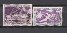1956 - 1958    YVERT  Nº  285 , 291 - Costa Francesa De Somalia (1894-1967)
