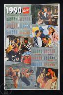 1990 Coca Cola Calendar Advertising Sticker - Coca-Cola