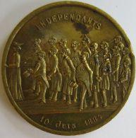 M01957  CORPS ELECTORAL DE BRUXELLES - INDEPENDANTS - 10 JUIN 1884 (14g) 16 Députés Au Revers - Professionals / Firms
