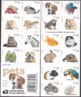 USA 2016 Pets Booklet  20 X 0.49c  MNH ** Dog Fish Snake Horse - United States