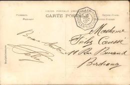 """FRANCE - Cachet De Ligne De Bateau """" Bordeaux à Buenos Aires 2° LKn°1 """" En 1910 Sur Carte Postale - A Voir - L 1166 - Marcophilie (Lettres)"""