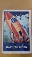 SPACE SCI-FI CARD. USA 1953 VINTAGE ORIGINAL - WHEAT CHEX - UFO . RUIMTE - Snoepgoed & Koekjes