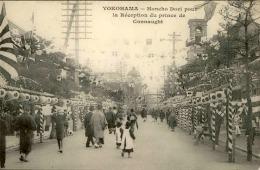 JAPON - Carte Postale De Yokohama ,  Honcho Dori Pour La Réception Du Prince De Connaught - A Voir - L 1176 - Yokohama
